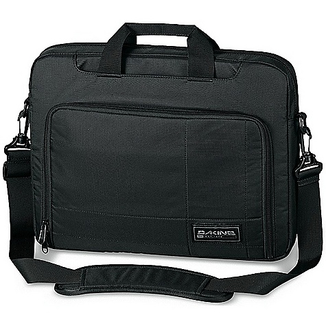 Entertainment On Sale. Dakine Laptop Case DECENT FEATURES of the Dakine Laptop Case Fully padded protection Fits most 14in., 17in. laptops Stowable handles Removable shoulder strap Organizer pocket The SPECS Material: 420D nylon Dobby, 600D Polyester The SPECS for Small Dimension: 14 x 10 x 2.75in. / 36 x 25 x 7 cm The SPECS for Large Dimension: 16 x 12 x 2.75in. / 41 x 31 x 7 cm - $27.99