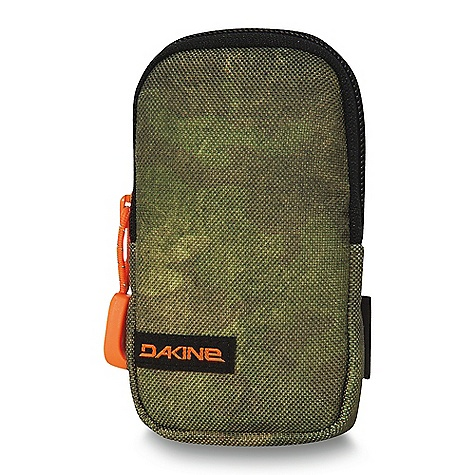 Entertainment On Sale. Dakine Cell Case DECENT FEATURES of the Dakine Cell Case Fleece lined Fits most smartphones Fits most small digital cameras Affixes to shoulder strap with two hook and loop straps The SPECS Dimension: 4.75 x 2.75 x 0.75in. / 12 x 7 x 2 cm Material: 600D Polyester - $8.99