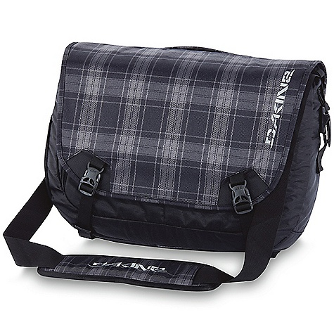 Entertainment On Sale. Free Shipping. Dakine Messenger 23 DECENT FEATURES of the Dakine Messenger 23 Padded laptop sleeve Fits most 17in. laptops Internal organizer pockets Padded shoulder strap Removable waist belt Reflective details The SPECS Volume: 1400 cubic inches / 23 liter Dimension: 19.5 x 13 x 6in. / 50 x 34 x 15 cm 600D Polyester 420D Nylon Dobby - $62.99