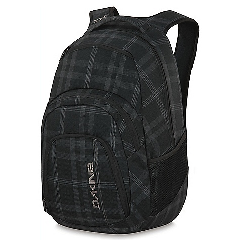 Surf On Sale. Free Shipping. Dakine Campus 33 DECENT FEATURES of the Dakine Campus 33 Padded laptop sleeve Fits most 15in. laptops Insulated cooler pocket Organizer pocket Fleece lined sunglass pocket Mesh side pockets The SPECS Volume: 2000 cubic inches / 33 liter Dimension: 20 x 13 x 9in. / 51 x 33 x 23 cm 600D Polyester 420D Nylon Dobby - $40.99