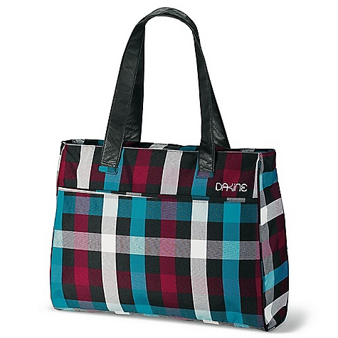 Entertainment On Sale. Free Shipping. Dakine Women's Jenna 25 DECENT FEATURES of the Dakine Women's Jenna 25 Interior padded laptop sleeve Fits most 17in. laptops Zippered closure Vinyl shoulder straps Exterior zippered pocket Open back panel to slide over travel bag handle Interior organizer pocket Interior zippered pocket Nylon lining The SPECS Volume: 1500 cubic inches / 25 liter Dimension: 18 x 14 x 5in. / 46 x 36 x 13 cm Strap Drop: 11in. / 28 cm 600D Polyester - $45.99