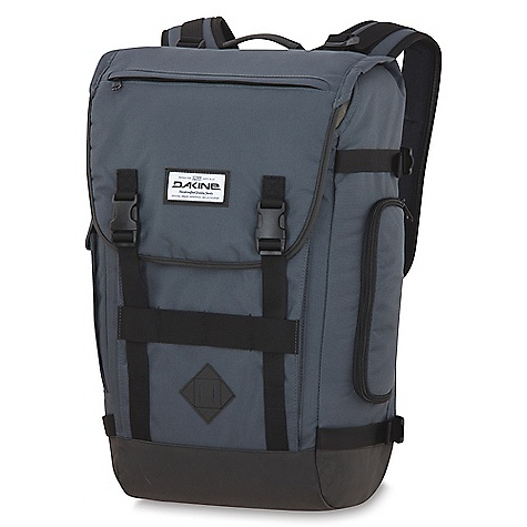Surf On Sale. Free Shipping. Dakine Vault 23 DECENT FEATURES of the Dakine Vault 23 Padded laptop sleeve Fits most 17in. laptops Deployable water bottle pocket Breathable Dri Mesh back panel Fleece lined phone pocket Load compression straps The SPECS Volume: 1380 cu.in. (23 L) Dimensions: 21 x 12.5 x 7in. (53 x 32 x 18cm) Weight: 2.5 lbs. (1.1kg) Materials: 600D Polyester, PU Suede - $66.99