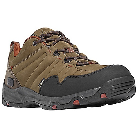 Camp and Hike Free Shipping. Danner Men's Nobo Low Shoe DECENT FEATURES of the Danner Men's Nobo Low Shoe Durable, waterproof nubuc leather upper with rugged and lightweight nylon 100% waterproof and breathable Gore-Tex lining Antimicrobial mesh lining in the collar and tongue Lightweight, moisture wicking, antimicrobial open cell PU footbed Compression molded EVA midsole provides added cushioning Co-molded TPU plate for underfoot protection and stability Lightweight and athletic performance of Danner's Trailguard platform Danner Appalachian outsole for traction over rugged terrain The SPECS Weight: 38 oz Height: 3in. Last: DT4 Lining: Gore-Tex Shank: Nylon - $149.95