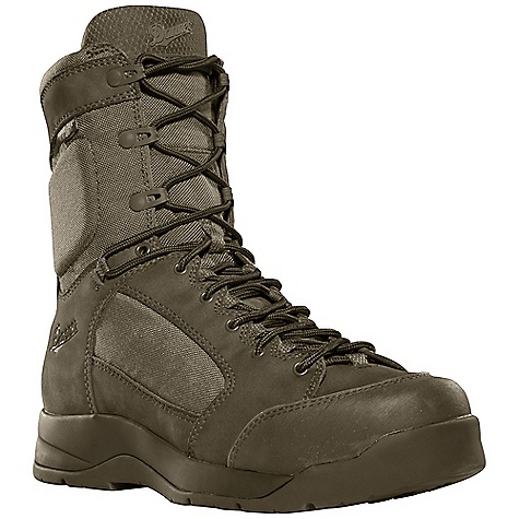 Camp and Hike Free Shipping. Danner Men's DFA GTX Boot DECENT FEATURES of the Danner Men's DFA GTX Boot Durable, waterproof nubuc leather upper with rugged and lightweight 1000 Denier nylon Variable lacing system and lace garage for secure, glove-like fit 100% waterproof and breathable Gore-Tex lining Cushioning polyurethane footbed Co-molded Pebax midsole plate for springboard toe return, impact absorption and puncture resistance Patent pending Danner VIA technology featuring a Vibram V-4 ultra-abrasion rubber compound in the medial side arch for fast roping control Danner/Vibram DFA outsole with 360deg low lug pattern for grip in all directions The SPECS Height: 8in. Weight: 61 oz Lining: Gore-Tex Last: 1368 Shank: Bi Fit - $209.95