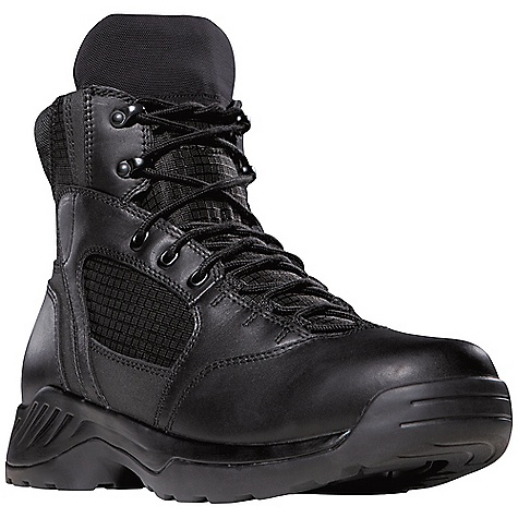 Camp and Hike Features of the Danner Men's Kinetic 6IN GTX Boot Durable, waterproof, polishable full-grain leather Upper with rip stop ballistic nylon Speed lace fastening system for secure Fit 100% waterproof and breathable Gore-Tex lining Cushioning polyurethane Footbed Polyurethane Midsole for additional cushioning and support Slip-resistant, multi-directional low-lug Danner Kinetic Outsole for superior surface contact and traction - $159.95
