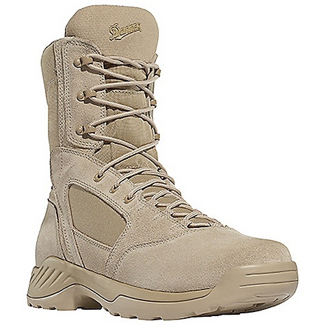 Camp and Hike Free Shipping. Danner Men's Kinetic 8IN Boot DECENT FEATURES of the Danner Men's Kinetic 8IN Boot Durable, waterproof nubuc leather upper with rugged and lightweight 1000 Denier nylon Breathable, moisture-wicking mesh lining Cushioning Ultralon polyurethane footbed PU midsole for additional cushioning and support Multidirectional low lug Danner Kinetic outsole for superior surface contact Meets AR 670-1 requirements for optional wear The SPECS Height: 8in. Weight: 51 oz Lining: Mesh Last: 1368 Shank: Nylon - $139.95