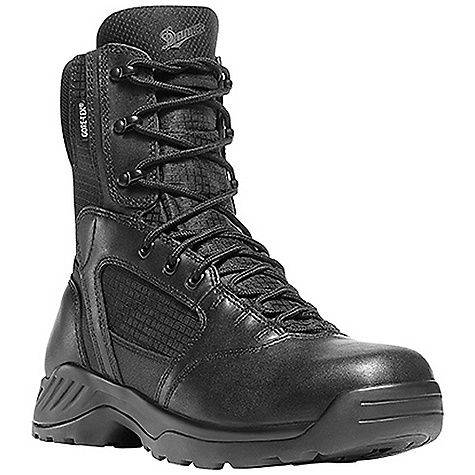 Camp and Hike Free Shipping. Danner Men's Kinetic Side-Zip 8IN GTX Boot FEATURES of the Danner Kinetic Side-Zip 8IN GTX Boot Durable, polishable full-grain leather upper with rip stop ballistic nylon Semi-locking side-zip 100% waterproof and breathable Gore-Tex lining Cushioning polyurethane footbed Polyurethane midsole provides superior cushioning and added durability Slip-resistant, multi-directional low-lug Danner Kinetic outsole for superior surface contact and traction - $189.95