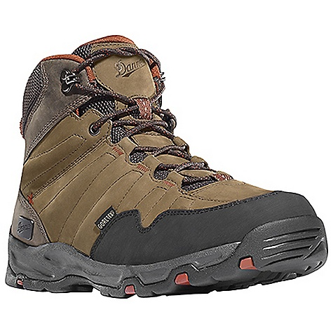 Camp and Hike Free Shipping. Danner Men's Nobo Mid Boot DECENT FEATURES of the Danner Men's Nobo Mid Boot Durable, waterproof nubuc leather upper 100% waterproof and breathable Gore-Tex lining Antimicrobial mesh lining in the collar and tongue Lightweight, moisture wicking, antimicrobial open cell PU footbed Compression molded EVA midsole provides added cushioning Co-molded TPU plate for underfoot protection and stability Lightweight and athletic performance of Danner's Trailguard platform Danner Appalachian outsole for traction over rugged terrain The SPECS Weight: 43 oz Height: 6in. Insulation: 400 g Last: DT4 Lining: Gore-Tex Shank: Nylon - $159.95