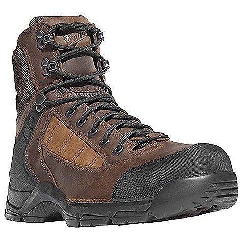 Camp and Hike Free Shipping. Danner Men's Roughhouse Mountain Boot DECENT FEATURES of the Danner Men's Roughhouse Mountain Boot Durable, waterproof nubuc and full-grain leather upper Reinforced toe box Abrasion resistant toe and heel cap Molded rubber heel counter for heel lock Gaiter loop 100% waterproof and breathable Gore-Tex lining Cushioning polyurethane footbed PU midsole for durable shock absorption Lightweight and stable performance of Danner's Terra Force X2 platform Danner Defiance outsole for traction over rugged terrain The SPECS Weight: 54 oz Height: 7in. Last: 851 Lining: Gore-Tex Shank: Integrated Polypropolene - $189.95