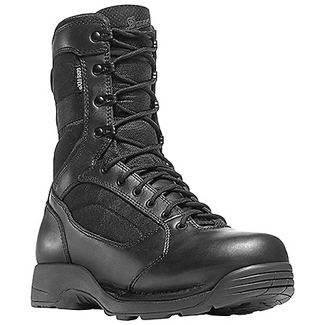 Camp and Hike Free Shipping. Danner Men's Striker Torrent 8IN Boot DECENT FEATURES of the Danner Men's Striker Torrent 8IN Boot Durable, polishable full-grain leather upper with rugged and lightweight 1000 Denier nylon Speed lace fastening system for secure fit Lace garage 100% waterproof and breathable Gore-Tex lining Removable cushioning antimicrobial polyurethane footbed with additional layer of open cell construction for air circulation Polyurethane midsole provides superior cushioning and added durability New Danner TFX-8 platform is the lightest weight and most versatile TFX construction featuring a cross stitch design which provides added durability and stability in the lateral toe and medial heal pivot zones Vibram Striker Torrent outsole featuring a 360deg pentaganol low lug pattern for grip in all directions, a flex notch design in key pivot areas and a more rugged outer lug pattern which sheds water and provides maximum surface contact The SPECS Height: 8in. Weight: 50 oz Lining: Gore-Tex Last: 851 Shank: Nylon - $199.95