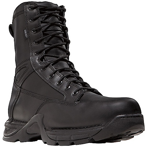 Camp and Hike Free Shipping. Danner Men's Striker II 8IN GTX Boot DECENT FEATURES of the Danner Men's Striker II 8IN GTX Boot Durable, waterproof, polishable fullgrain leather upper with rugged and lightweight 1000 Denier nylon All-leather styles available Side-Zip 100% waterproof and breathable Gore-Tex lining Cushioning Fatigue Fighter footbed Lightweight and stable performance of Danner's TFX Lite platform Danner TFX Lite oil- and slip-resistant outsole for superior grip and stability Pro-Tec NMT meets or exceeds The SPECS Height: 8in. Weight: 54 oz Lining: Gore-Tex Last: 851 Shank: Nylon - $199.95