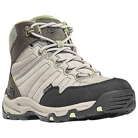 Camp and Hike Free Shipping. Danner Women's Nobo Mid Boot DECENT FEATURES of the Danner Women's Nobo Mid Boot Durable, waterproof nubuc leather upper 100% waterproof and breathable Gore-Tex lining Antimicrobial mesh lining in the collar and tongue Lightweight, moisture wicking, antimicrobial open cell PU footbed Compression molded EVA midsole provides added cushioning Co-molded TPU plate for underfoot protection and stability Lightweight and athletic performance of Danner's Trailguard platform Danner Appalachian outsole for traction over rugged terrain The SPECS Weight: 35 oz Height: 6in. Insulation: 400 g Last: DT4 Lining: Gore-Tex Shank: Nylon - $159.95