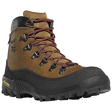 Camp and Hike Free Shipping. Danner Men's Crater Rim Boot DECENT FEATURES of the Danner Men's Crater Rim Boot Durable, waterproof nubuc leather upper 360deg abrasion resistant Vibram rubber rand D-Ring hardware and lace-to-toe design for secure fit 100% waterproof and breathable Gore-Tex lining Cushioning polyurethane footbed Vibram Bifida outsole for superior traction in rugged environments The SPECS Weight: 58 oz Height: 6in. Last: 610 Lining: Gore-Tex Shank: Fiberglass - $299.95