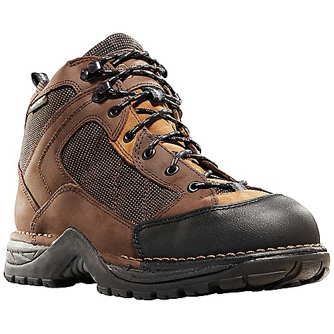 Free Shipping. Danner Men's Radical 452 Steel Toe Boot DECENT FEATURES of the Danner Men's Radical 452 Steel Toe Boot Durable, waterproof nubuc leather upper Abrasion resistant toe cap 100% waterproof and breathable Gore-Tex lining Molded EVA footbed Lightweight and stable performance of Danner's Terra Force platform Danner Boulder TF outsole with multidirectional lug pattern for grip over rugged terrain Steel toe meets or exceeds ASTM F2413-05 M I/75 C/75 EH standards The SPECS Weight: 48 oz Height: 5.5in. Safety Toe: ST Last: 850 Lining: Gore-Tex Shank: Nylon - $179.95