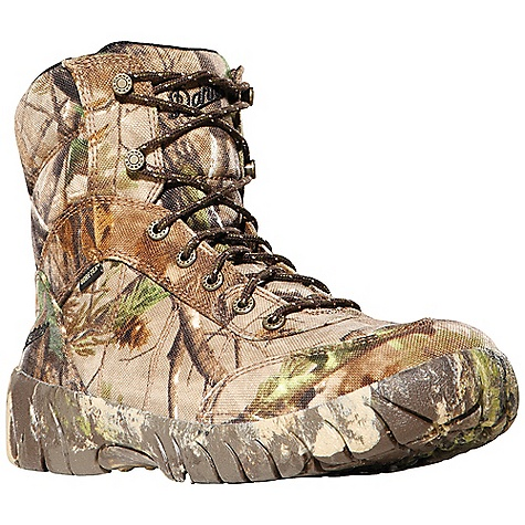 Hunting Free Shipping. Danner Men's Jackal II Boot DECENT FEATURES of the Danner Men's Jackal II Boot Rugged and lightweight 1000 Denier nylon upper Rugged hardware for secure fit and long lasting performance 100% waterproof and breathable Gore-Tex Extended Comfort lining for use in warm weather climates or more active pursuits Cushioning EVA footbed Full-camo Danner Phantom outsole with low lugs for superior ground feel The SPECS Weight: 40 oz Height: 7in. Last: 850 Lining: Gore-Tex XCR Shank: Nylon - $139.95