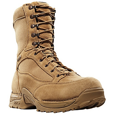 Free Shipping. Danner Men's Desert TFX Mojave 8IN Boot DECENT FEATURES of the Danner Men's Desert TFX Mojave 8IN Boot Durable, waterproof rough-out leather upper with rugged and lightweight 1000 Denier nylon Speed lace fastening system for secure fit 100% waterproof and breathable Gore-Tex lining Cushioning Fatigue Fighter footbed Lightweight and stable performance of Danner's TERRA FORCE X platform Danner Approach TFX outsole for instant acceleration over rugged terrain The SPECS Height: 8in. Weight: 69 oz Lining: Gore-Tex Last: 851 Shank: Nylon - $189.95