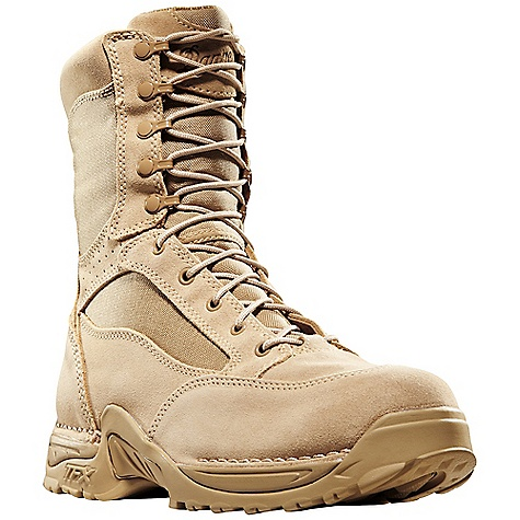 Free Shipping. Danner Men's Desert TFX Rough-Out Hot 8IN Boot DECENT FEATURES of the Danner Men's Desert TFX Rough-Out Hot 8IN Boot Durable, rough-out leather upper with rugged and lightweight 1000 Denier nylon Speed lace fastening system for secure fit Breathable, Dri-Lex lining with leather perforation for increased airflow Cushioning Fatigue Fighter footbed Lightweight and stable performance of Danner's TERRA FORCE X platform Danner Approach TFX outsole for instant acceleration over rugged terrain Meets AR 670-1 requirements for optional wear The SPECS Height: 8in. Weight: 56 oz Lining: Dri-Lex Last: 851 Shank: Nylon - $179.95