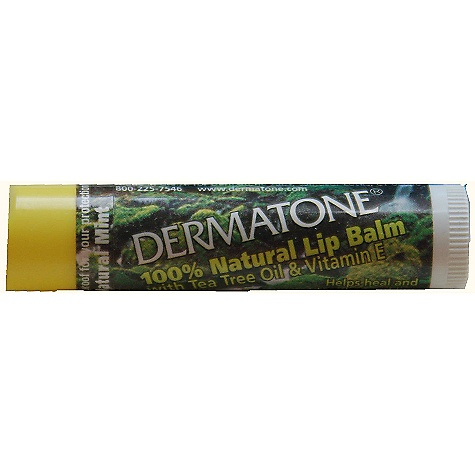 Dermatone Twist Up Lip Balm DECENT FEATURES of the Dermatone Twist-Up Lip Balm Twist Up Stick Protects and conditions lips Prevents chapping Broad-spectrum SPF 23 sunblock Cold sore relief Contains menthol and phenol Safflower Oil, a natural oil that penetrates the skin to soften and moisturize Aloe oil - hydrates lips and keeps them soft and supple. Relieves lip irritations Candilla Wax - moisturizes and gives long-lasting lip protection Natural Flavor - for pleasant taste and to help cleanse lip tissue Tea Tree Oil - used, for years, to sooth skin. It has proven anti-microbial benefits and anti-inflammatory properties. Vitamin E - a natural anti-oxidant and skin moisturizer with skin-softening benefits; relieves dry skin The SPECS SPF 23 0.15 oz Active Ingredients Padimate O: 8.0% Sunscreen Benzophenone-3: 4.0% Sunscreen Petrolatum: 49.1% Skin Protectant - $2.50