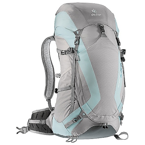 Camp and Hike Free Shipping. Deuter Women's Spectro AC 28 SL Pack DECENT FEATURES of the Deuter Women's Spectro AC 28 SL Pack Aircomfort FlexLite System U-Shaped Front Panel Access Large Stretch-woven front Stuff-it Pocket Top Lid Pocket Hydration Compatible Stretch-woven Side Pockets Stabilizer Straps Ice Axe and Trekking Pole Attachments SOS Label Perforated Foam Shoulder Straps: Offer fantastic breathability Two Frame Construction: Durable spring steel wire and flat profile frame increases stability and load-carrying comfort, and also guarantees flexibility and durability Stabilizer straps Aircomfort Ventilated Back: System reduces perspiration by 25% Perforated Foam Hip Belts: With exceptionally big pores guarantee additional ventilation The SPECS Capacity: 18 lbs / 8 kg Torso Length: 16 - 21in. / 40-54 cm Volume: 1710 cubic inches / 28 liter with Height Adjustable Lid Weight: 2 lbs 5 oz / 1.06 kg (includes rain cover) Dimension (H x W x D): 25in. x 10in. x 7in. / 63 x 26 x 18 cm Material: HexLite 100, Microrip-Nylon OVERSIZE ITEM: We cannot ship this product by any expedited shipping method (3-Day, 2-Day or Next Day). Even if you pick that option, it will still go Ground Shipping. Sorry for being so mean. - $139.00