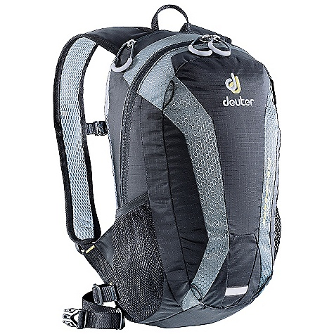 Free Shipping. Deuter Speed Lite 10 Pack DECENT FEATURES of the Deuter Speed Lite 10 Pack Lite System with Delrin U-Frame Removable Waist Strap and Sternum Strap Side Mesh Pockets Padded Back with Breathable 3D-Airmesh Removable Delrin Rod Hydration Compatible Double-Layered Pack Bottom 3M Reflector Loop The SPECS Weight: 12 oz / .35 kg Carry Capacity: 8 lbs / 3.6 kg Dimension: (H x W x D): 16 x 9 x 5in. / 40 x 23 x 13 cm Volume: 600 cubic inches / 10 liter Material: Hexlite 210 / Ripstop 210 - $59.00