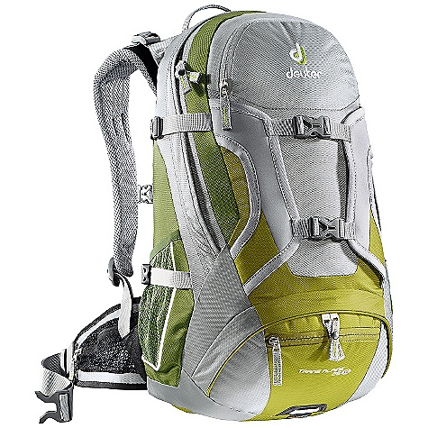 Camp and Hike Free Shipping. Deuter Trans Alpine 26 SL Pack DECENT FEATURES of the Deuter Trans Alpine 26 SL Pack AIRSTRIPES Back System Integrated Detachable Rain Cover Bottom Access Compartment with Zip Internal Divider Neoprene Front Helmet/Stuff-it Flap Two Front Pockets with Zippered Valuables Pockets 3M Reflector Safety Blink Tab Hip Belt Pockets Side Mesh Pockets Hydration Compatible Women's Specific Fit -SL or SlimLine Airstripes Trans Alpine System 3D-AirMesh: Lined shoulder straps Foam Stripes: With 3D-AirMesh lining are contour-shaped have minimal contact surface and ensure maximum air circulation and stability Flexible Aluminum Stays: With in the foam profile can be bent to fit the back exactly Mesh Wings on The Hip Belt: Help secure the load and offer great ventilation The SPECS Carry Capacity: 26 lbs / 12 kg Volume: 1600 cubic inches / 26 L Weight: 2 lbs 6 oz + 3 oz / 1.08 kg + .08 kg (rain cover) Dimensions (H x W x D): 18.5in. x 12.5in. x 8.5in. / 47 x 32 x 22 cm Materials: Ballistic 420 den OVERSIZE ITEM: We cannot ship this product by any expedited shipping method (3-Day, 2-Day or Next Day). Even if you pick that option, it will still go Ground Shipping. Sorry for being so mean. - $129.00