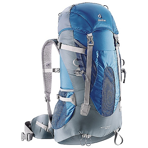 Camp and Hike On Sale. Free Shipping. Deuter ACT Zero 50+15 Pack DECENT FEATURES of the Deuter ACT Zero 50+15 Pack Aircontact Back System Removable Lid 15 liter Variquick Adjustable Shoulder Harness Large Compressible Front Stuff-it Pocket Optional Roll Top Closure Hollow-core Aluminum X Stays Resupply Extension Collar Ice Axe and Trekking Pole Attachments Hydration Compatible Top and Bottom Lid Pockets Mesh Side Pockets Hip Belt Pocket SOS Label Pull Forward Waist Belt Straps Removable Lid: Allows you to cut weight, or keep valuables and toiletries handy when thru-hiking Anatomically Shaped Shoulder Straps: With 3D-AirMesh cover Variquick: Customize your fit by making your individual height adjustment Anatomically Cut Hip Belt: With bilaminate foam provides great load transfer and offers freedom of movement Anatomically Shaped X -frame: Creates a comfortable, flexible construction for medium to heavy loads Breathable Hollow Chamber Foam: Blends superior ventilation via a pump effect that circulates air through the cushions. The result is a snug fitting, stable carry and a reduction of perspiration by 15% The SPECS Capacity: 45 lbs / 20 kg Torso Length: Adjustable, 15-21in. / 38-53 cm Volume: 3050 cubic inches / 50 liter (+15 liter Extension Collar) Weight: 3 lbs 6 oz / 1.48 kg (includes rain cover) Dimension (H x W x D): 30in. x 12in. x 9.5in. / 76 x 30 x 24 cm Material: Duratex-Lite, Ripstop 210 - $143.20