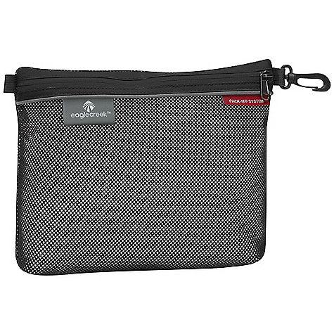 Entertainment On Sale. Eagle Creek Pack-It Sacs DECENT FEATURES of the Eagle Creek Pack-It Sacs Keeps small stuff organized Spill proof Link Seal Mesh Carry clip The SPECS Material: EcoLite Recycled Fabric Link Seal Mesh The SPECS for Extra-Small Dimension: 7.5 x 3.5in. / 19 x 9 cm Weight: 1 oz / 0.031 kg The SPECS for Small Dimension: 8 x 6in. / 20 x 15 cm Weight: 1 oz / 0.031 kg The SPECS for Medium Dimension: 10 x 8in. / 25 x 20 cm Weight: 2 oz / 0.054 kg The SPECS for Large Dimension: 14 x 10in. / 36 x 25 cm Weight: 3 oz / 0.085 kg - $5.63