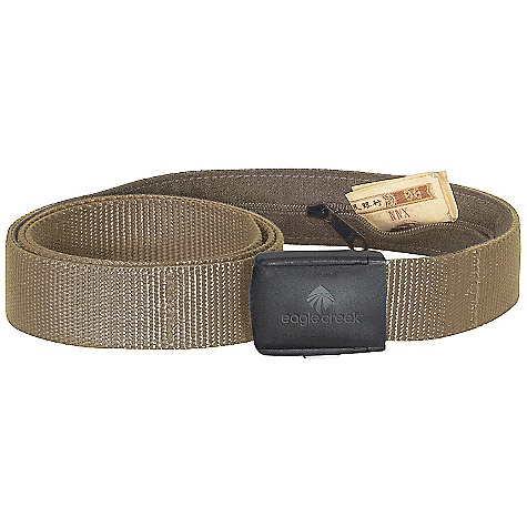 Entertainment Eagle Creek All Terrain Money Belt FEATURES of the Eagle Creek All Terrain Money Belt Hidden zippered security pocket safely conceals currency Adjustable, quick release, slim cam-style buckle Plastic buckle allows for easy pass through airport security Size can be shortened - $20.95