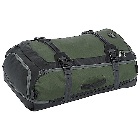 Entertainment On Sale. Free Shipping. Eagle Creek Hybrid Hauler Duffel DECENT FEATURES of the Eagle Creek Hybrid Hauler Duffel Multiple carry options: backpack straps and duffel straps Oversized front panel with lockable zippers for easy packing and unpacking Zippered water resistant in.bathtubin. compartment: can sit in a puddle and separates dirty gear from clean Finger friendly and durable zipper pulls Tuck away contoured backpack straps for convenient carry Moisture wicking Air Mesh Load stabilizer straps Lockable, self-repairing zippers and finger friendly zipper pulls Front, top, bottom, and side haul handles External pocket with organizer panel Strategic material blocking, use of Bi-Tech-e for weatherproof protection and superb durability Integrates with Pack-It System and Gear Organizers, suggestions included The SPECS Material: 420D Helix-e Tela, 420D Helix-e Dual Ripstop, 900D Bi-Tech-e, 1200D Bi-Tech-e The SPECS for Medium Capacity: 3080 cubic inches / 50 liter Weight: 2 lbs 12 oz / 1.2 kg Dimension: 14 x 22 x 10in. / 36 x 56 x 25 cm The SPECS for Large Capacity: 3920 cubic inches / 64 liter Weight: 3 lbs 2 oz / 1.4 kg Dimension: 14 x 28 x 10in. / 36 x 71 x 25 cm - $111.99