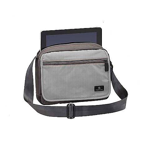 Entertainment Free Shipping. Eagle Creek Broland Guide Courier DECENT FEATURES of the Eagle Creek Broland Guide Courier Front flap closure with zippered pocket Smart Travel Security organization includes Interior mobile phone and electronics pocket Zippered pocket Key fob Pen slots Secure-Zip Toggle closure on main compartment Padded sleeve sized for most tablets, netbooks or iPad Adjustable cross-body shoulder strap Interior zippered pocket Exterior side drop pocket Back zippered pocket Top grab handle Bi-Tech bottom for easy cleaning and superb durability Reflective accents for dusk and nighttime visibility The SPECS Capacity: 365 cubic inches / 6 liter Weight: 13 oz / 0.4 kg Dimension: 11 x 8.5 x 3in. / 28 x 21 x 8 cm 420D Helix Tela 420D Helix Dual Ripstop - $67.95