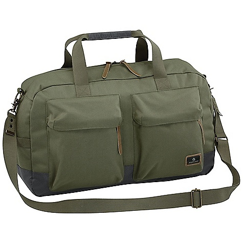 Entertainment Free Shipping. Eagle Creek Heritage Weekender Bag DECENT FEATURES of the Eagle Creek Heritage Weekender Bag Adjustable cross-body shoulder strap with security clasp allows bag to be secured to anchored fixture Travel-focused organization in main compartment includes Interior mobile phone and electronics pocket Zippered pocket Pen slots Lockable, self-repairing zippers on main compartment Two front exterior zippered cargo pockets for organization Two interior pockets for electronic chargers/cords Exterior back zippered cargo pocket Tote and side grab handles Back slip panel for stacking on wheeled luggage Custom metal findings and suede zipper pull accents Made with the proven durability of Cordura fabric Bi-Tech bottom for easy cleaning and superb durability The SPECS Capacity: 2135 cubic inches / 35 liter Weight: 2 lbs / 0.9 kg Dimension: 20.5 x 12.5 x 7in. / 52 x 32 x 18 cm 915D HP Cordura 900D Bi-Tech - $114.95