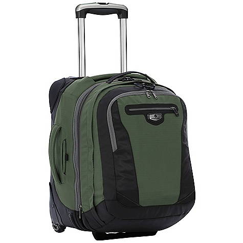 Entertainment Free Shipping. Eagle Creek Traverse Pro 19 Wheeled Luggage DECENT FEATURES of the Eagle Creek Traverse Pro 19 Wheeled Luggage Front panel loading for easy packing and unpacking Interior mesh pocket Interior compression straps Exterior quick stash pocket and large zippered pocket #10 lockable, self-repairing zippers and finger friendly zipper pulls ES Wheel and Handle System 4-Point Protection for critical wear points Sole Patch corner guards Skid Plate protect bag from obstacles Wheel housing protects against destructive blows Strategic material blocking and front bumper protection for superb durability Integrates with the Pack-It System, suggestions included Checkpoint Friendly suspended compartment fits most laptops up to 17in. Tuck-away padded backpack straps and top grab handle Interior front pocket organization Lockable, self-repairing zippers and finger friendly zipper pulls on main and laptop compartments Back slip panel allows for stacking on wheeled luggage The SPECS Capacity: 3510 cubic inches / 58 liter Main Bag: 2250 cubic inches / 37 liter Backpack: 1260 cubic inches / 21 liter Weight: 6 lbs 9 oz / 2.95 kg Dimension: 14 x 19 x 7.5in. / 36 x 48 x 19 cm Backpack Dimension: 11 x 17 x 6in. / 34 x 44 x 15 cm OVERSIZE ITEM: We cannot ship this product by any expedited shipping method (3-Day, 2-Day or Next Day). Even if you pick that option, it will still go Ground Shipping. Sorry for being so mean. - $294.95