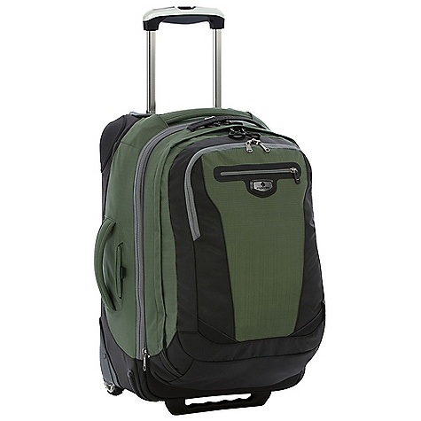 Entertainment Free Shipping. Eagle Creek Traverse Pro 22 Wheeled Luggage DECENT FEATURES of the Eagle Creek Traverse Pro 22 Wheeled Luggage Front panel loading for easy packing and unpacking Interior mesh pocket Interior compression straps Exterior quick stash pocket and large zippered pocket #10 lockable, self-repairing zippers and finger friendly zipper pulls ES Wheel and Handle System 4-Point Protection for critical wear points Sole Patch corner guards Skid Plate protect bag from obstacles Wheel housing protects against destructive blows Strategic material blocking and front bumper protection for superb durability Integrates with the Pack-It System, suggestions included Checkpoint Friendly suspended compartment fits most laptops up to 17in. Tuck-away padded backpack straps and top grab handle Interior front pocket organization Lockable, self-repairing zippers and finger friendly zipper pulls on main and laptop compartments Back slip panel allows for stacking on wheeled luggage The SPECS Capacity: 4150 cubic inches / 68 liter Main Bag: 2560 cubic inches / 42 liter Backpack: 1590 cubic inches / 26 liter Weight: 6 lbs 10 oz / 3.04 kg Dimension: 14 x 22 x 8.5in. / 36 x 56 x 22 cm Backpack Dimension: 13 x 20 x 6in. / 34 x 49 x 15 cm OVERSIZE ITEM: We cannot ship this product by any expedited shipping method (3-Day, 2-Day or Next Day). Even if you pick that option, it will still go Ground Shipping. Sorry for being so mean. - $314.95