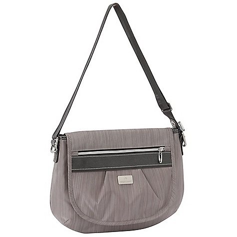 Entertainment Free Shipping. Eagle Creek Sophia Shoulder Bag DECENT FEATURES of the Eagle Creek Sophia Shoulder Bag Magnetic flap closure with exterior zippered pocket Smart Travel Security organization includes Interior mobile phone and electronics pocket Zippered pocket Pen slot Secure-Zip Toggle closure on main compartment Adjustable 50in. strap to wear over your shoulder or cross-body Reflective accents for dusk and nighttime visibility The SPECS Capacity: 300 cubic inches / 5 liter Weight: 15 oz / 0.4 kg Dimension: 13 x 10 x 2.5in. / 33 x 25 x 6 cm 420D Helix Tela (Black) 420D Helix Stratus (Stratus), Satin Lining - $69.95