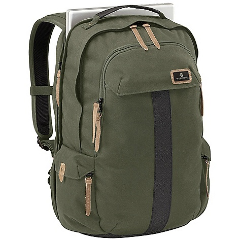 Camp and Hike Free Shipping. Eagle Creek Heritage Checkpoint Backpack DECENT FEATURES of the Eagle Creek Heritage Checkpoint Backpack Travel-focused organization in front zippered compartment includes Interior mobile phone and electronics pocket Pen slots Key fob Lockable, self-repairing zippers on front, main and laptop compartments Checkpoint Friendly laptop compartment with butterfly-style opening sized for most 17in. laptops Ergonomically contoured shoulder straps with adjustable sternum strap Interior zippered pocket Slip pocket for file organization Large front exterior zippered cargo pocket Two side exterior zippered side cargo pockets Top grab handle for easy grab-and-go Back slip panel for stacking on wheeled luggage Custom metal findings and suede zipper pull accents Made with the proven durability of Cordura fabric Bi-Tech bottom for easy cleaning and superb durability The SPECS Capacity: 1680 cubic inches / 27.5 liter Weight: 2 lbs 6 oz / 1.1 kg Dimension: 14 x 19.5 x 9.5in. / 36 x 50 x 23.5 cm 915D HP Cordura 900D Bi-Tech - $134.95