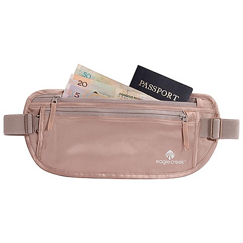 Entertainment Eagle Creek Silk Undercover Money Belt FEATURES of the Eagle Creek Silk Undercover Money Belt Breathable and washable natural silk Two zippered pockets for organization of Passport and currency Sweat-resistant coated satin lining Back slip pocket Soft adjustable elastic waistband with strap keeper - $30.95
