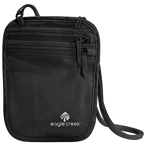 Entertainment Features of the Eagle Creek Silk Undercover Neck Wallet Breathable and washable natural silk Two zippered pockets for organization of Passport and currency Sweat-resistant coated satin lining Back slip pocket Soft adjustable neck strap with strap keeper - $27.95