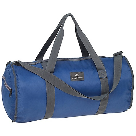 Entertainment Eagle Creek Packable Duffel DECENT FEATURES of the Eagle Creek Packable Duffel Zippered main compartment Pack-in pocket doubles as an external side pocket Webbing shoulder strap and grab handles Key fob The SPECS Capacity: 3050 cubic inches / 50 liter Weight: 8 oz / 227 g Dimension: 22 x 12 x 12in. / 56 x 30 x 30 cm Expanded Dimension: 8 x 8 x 3in. / 20 x 20 x 7 cm 210D Poly Ripstop - $29.95