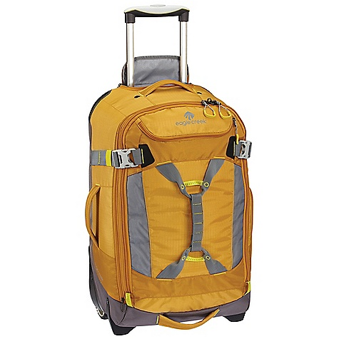 Entertainment Free Shipping. Eagle Creek Load Warrior Wheeled Duffel 25 DECENT FEATURES of the Eagle Creek Load Warrior Wheeled Duffel 25 Stowable Equipment Keeper holds gear and clothing on luggage by using the Porter Key bottle opener attachment Expandable main compartment adds 15% more packing space #10 lockable, self-repairing zippers with finger friendly zipper pulls on main compartment Exterior and interior compression straps Multiple grab handles and Harness Handle double as lash points Large exterior and interior pockets provide organization, including convenient Laundry Chute Attached piggyback clip offers add-a-bag versatility Durable wheel and handle system for smooth ride Built-in durability includes: reinforced hypalon material blocking and bumper protection, sturdy wheel housing, and reinforced bartacks Reflective accents for dusk and nighttime visibility ID Tag pocket and contrast accents throughout for easy ID Integrates with Pack-It System and Gear Organizers, suggestions included The SPECS Capacity: 3600 cubic inches / 59 liter Expanded: 3900 cubic inches / 64 liter Weight: 6 lbs 9 oz / 3 kg Dimension: 15 x 25 x 10in. / 38 x 63 x 25 cm Expanded Dimension: 15 x 25 x 12in. / 38 x 63 x 30 cm - $249.95