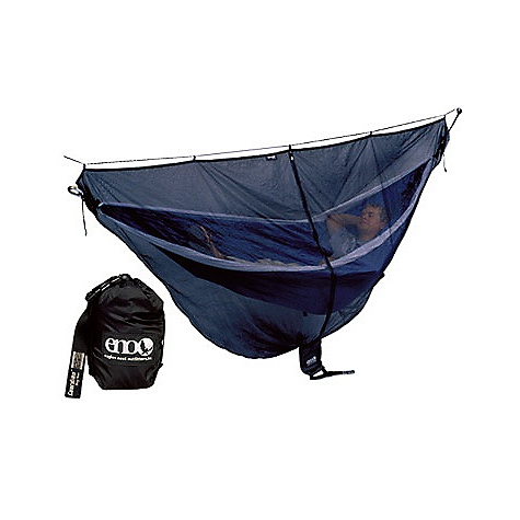 Camp and Hike Free Shipping. Eagles Nest Guardian Bug Net The Guardian Bug Net by Eagle Nest. When entering their terrain you have options.The compact and light weight ENO Guardian BugNet will protect your night slumbers in your ENO hammock by not allowing even the smallest critters to enter your home for the entire evening.While it is as easy as pie to attach to your ENO Guardian BugNet, which is smaller and lighter than a tent, the Guardian is a backpackers dream. If the bugs are elsewhere, you don't have to have it on; it is ultimately up to you. FEATURES of the Guardian Bug Net by Eagle Nest Super-Fine No-see-um Netting External Compression System Stuff Sack for Compact Travel Allows Adequate Head Room Internal Gear Storage Pockets SPECIFICATIONS: Dimensions: 9' 5 in. x 4' 5 in. Weight: 16oz - $59.95