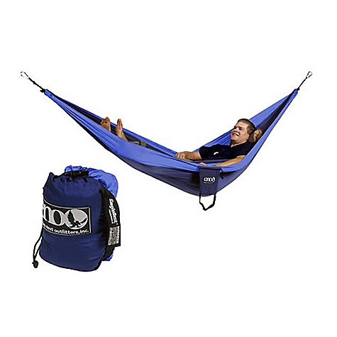 Camp and Hike Free Shipping. Eagles Nest DoubleNest Hammock FEATURES of the DoubleNest Hammock by Eagles Nest High Strength Breathable Woven Nylon Super Strong Nautical Grade Line High Grade Nylon Triple Interlocking Stiching Color combinations may be inverted from what is pictured SPECIFICATIONS: Dimensions: 6' 8in. x 9' 10in. Weight: 22oz Maximum Weight: 400lbs - $69.95