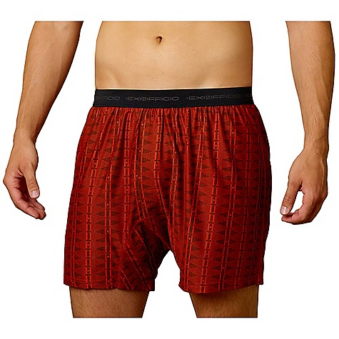 Ex Officio Men's Give-N-Go Aztec Boxer DECENT FEATURES of the Ex Officio Men's Give-N-Go Aztec Boxer Relaxed fit The SPECS Quick Drying: Fibers release moisture easily so garment dries rapidly Moisture Wicking: Fabric moves moisture along the garment's surface away from the skin Lightweight: Lightweight fibers make this weigh less than a similar garment Odor Resistant: Resists growth of bacteria and fungus that cause odors Breathable: Perspiration passes through the fabric as vapor Fabric: Give-N-Go Stretch 94% Nylon, 6% Lycra Spandex - $29.95