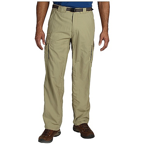Free Shipping. Ex Officio Men's Nio Amphi Pant DECENT FEATURES of the Ex Officio Men's Nio Amphi Pant Security zip back pockets Drop-in cell pocket Removable belt Full inseam gusset Tricot lined waistband Partial elastic waist Lightweight: Lightweight fibers make this weigh less than a similar garment Quick Drying: Fibers release moisture easily so garment dries rapidly Sun Guard 30+: Specialized fabric rated with a UPF (Ultraviolet Protection Factor) absorbs and reflects harmful rays, preventing them from damaging your skin Indestructible Button System: Buttons are secured by nylon loops sewn into the garment for durability Stain Resistant: Resists the penetration of stains, making it easier to blot or launder Water Resistant: Lightly coated with polyurethane to resist the penetration of water The SPECS Relaxed fit Nio Nycott 100% Nylon Inseam: short: 30in., regular: 32in., long: 34in. - $79.95