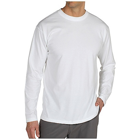 On Sale. Ex Officio Men's Bugsaway Chas'r Crew LS DECENT FEATURES of the Ex Officio Men's Bugsaway Chas'r Long Sleeve Crew Ribbed collar and cuff Tagless label for added comfort Anti-Insect: Insect Shield finish to repel flies, ticks, mosquitoes, chiggers, midges, and ants Sun Guard 30+: Specialized fabric rated with a UPF (Ultraviolet Protection Factor) absorbs and reflects harmful rays, preventing them from damaging your skin The SPECS Natural fit Dri-Balance 70% Cotton / 30% Polyester - $25.99