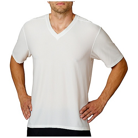 Ex Officio Men's Give-N-Go V Neck SS The SPECS Form fit Give-N-Go Stretch 94% Nylon 6% Lycra Spandex - $37.95