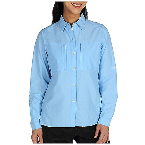 Free Shipping. Ex Officio Women's Dryflylite Shirt DECENT FEATURES of the Ex Officio Women's Dryflylite Shirt Button front placket Two napoleon security zip chest pockets Floramesh lined back yoke ventilation Roll-up sleeve tabs Lightweight: Lightweight fibers make this weigh less than a similar garment Quick Drying: Fibers release moisture easily so garment dries rapidly Ventilation: Strategically placed vents circulate air to decrease body temperature Moisture Wicking: Fabric moves moisture along the garment's surface away from the skin The SPECS Natural fit Dryflylite 80% Nylon / 20% Polyester - $69.95