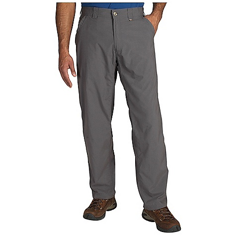 On Sale. Free Shipping. Ex Officio Men's BugsAway Ziwa Pant DECENT FEATURES of the Ex Officio Men's BugsAway Ziwa Pant Drop-in cell phone leg pocket Two back pockets with one zip security pocket Anti-Insect: Insect Shield finish to repel flies, ticks, mosquitoes, chiggers, midges, and ants Lightweight: Lightweight fibers make this weigh less than a similar garment Sun Guard 30+: Specialized fabric rated with a UPF (Ultraviolet Protection Factor) absorbs and reflects harmful rays, preventing them from damaging your skin Quick Drying: Fibers release moisture easily so garment dries rapidly The SPECS Relaxed fit Inseam: short: 30in., regular: 32in. Nycott 100% Nylon - $55.99