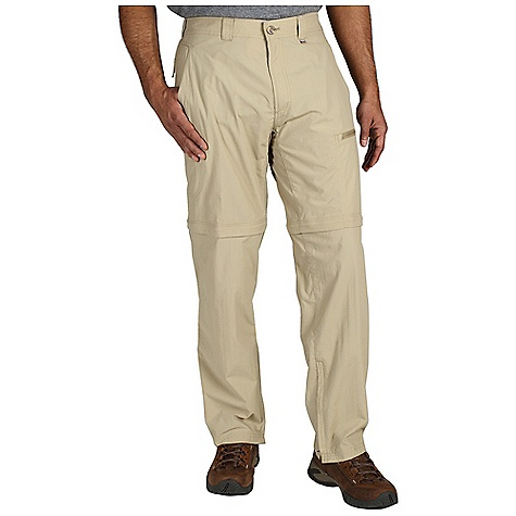 Free Shipping. Ex Officio Men's BugsAway Ziwa Convertible Pant DECENT FEATURES of the Ex Officio Men's BugsAway Ziwa Convertible Pant Drop-in cell phone leg pocket Security zip back pocket and leg pocket Partial elastic waist Convertible Ankle zippers Anti-Insect: Insect Shield finish to repel flies, ticks, mosquitoes, chiggers, midges, and ants Lightweight: Lightweight fibers make this weigh less than a similar garment Sun Guard 30+: Specialized fabric rated with a UPF (Ultraviolet Protection Factor) absorbs and reflects harmful rays, preventing them from damaging your skin Quick Drying: Fibers release moisture easily so garment dries rapidly Convertible: Changes shape or silhouette for convenient adaptability The SPECS Relaxed fit Inseam: short: 30in., regular: 32in., long: 34in. Nycott 100% Nylon - $98.95