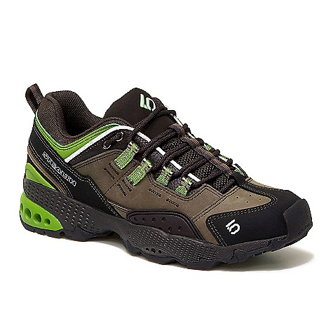 Free Shipping. Five Ten Men's 5-10 Dome Shoe DECENT FEATURES of the Five Ten Men's 5/10 Dome Shoe Breathable, all-leather upper Nubuck upper is supple and supportive Compression-molded EVA midsole Designed for fast and light alpine style adventure - $144.95