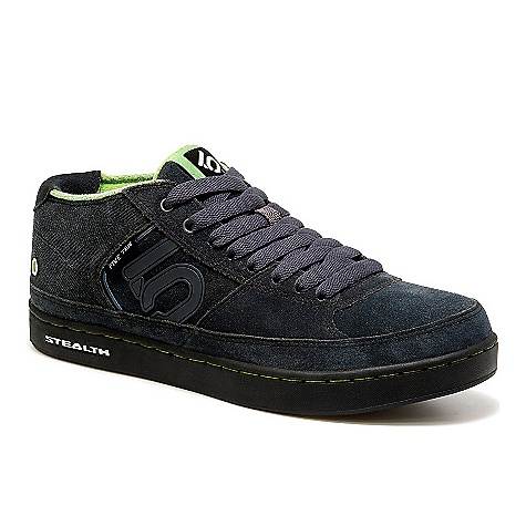 Skateboard Free Shipping. Five Ten Men's Spitfire Mid Shoe DECENT FEATURES of the Five Ten Men's Spitfire Mid Shoe Classic skate profile in a midtop Added ankle support and protection Ultimate, aerodynamic multi-sport weapon Designed for pavement, dirt or board, slackline and BMX tricks One-piece molded Stealth outsole that provides ultimate traction on all surfaces The upper is high quality split-grain leather with reinforced double stitching - $109.95